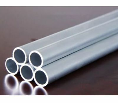 "Aluminum 6063 Tube 500mm 20"" Long Straight Pipe Wall 2mm OD 6-30mm AU"