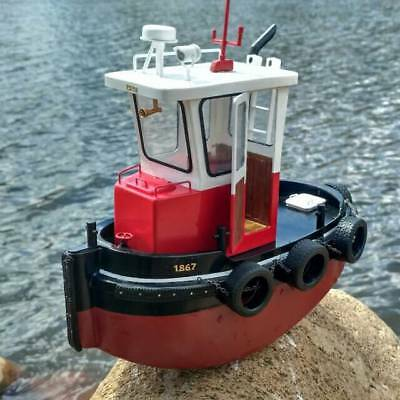 Scale 1:18 ABS Mini Tugboat Rescue Simulation RC Wooden Boat Model Ship Kit