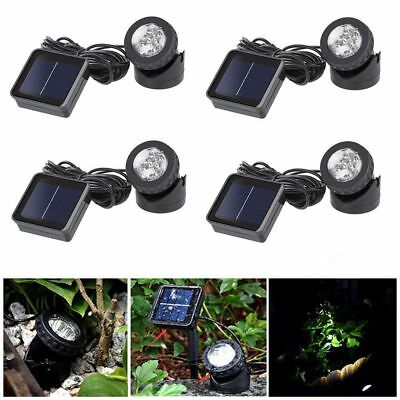 Solar Spotlights 6 LED Spot Projection Lights Outdoor Garden Pond Lighting UK