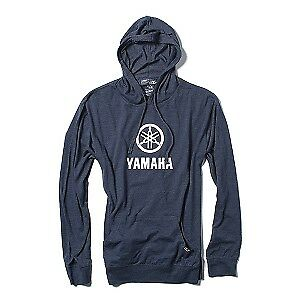 Factory Effex Yamaha Stacked Mens Lightweight Pullover Hoody Navy Blue