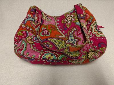 e3a39d66903a VERA BRADLEY SATCHEL Shoulder Bag 2014-15 Pink Swirls Pattern ...