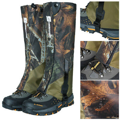 1 pair Waterproof Outdoor Hiking Snow Shoe Cover Leg Gaiters Hunting Climbing