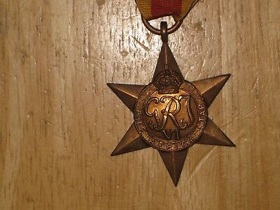 WW2 British Canadian Medal Africa Star nice NAMED