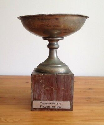 vintage large French trophy, trophy, sporting trophies