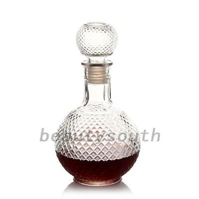 Crystal Whiskey Wine Shot Glass Bottle Cap Stopper Drinking Bar Decanter Bar