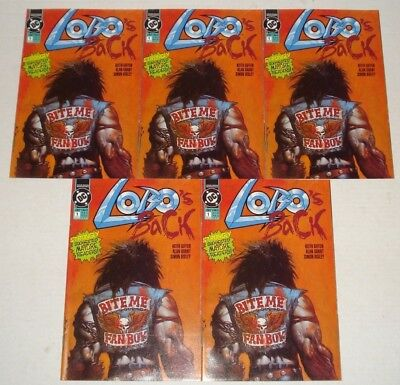 Lobo's Back Dealer Wholesale Lot of 5 Copies 1992 NM Simon Bisley Keith Giffen