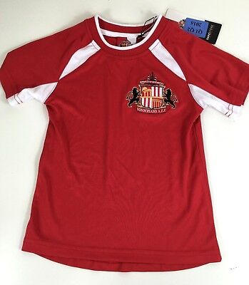 Official Sunderland Poly T Shirt Kids  4 - 5 Yrs Red White R161-2