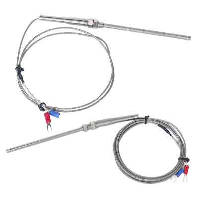 2x 100mm Spade K-Type Temperature Controller Thermocouple -100-1250°C Probe