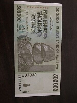 Authentic Zimbabwe Currency Note