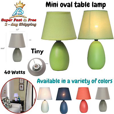 CERAMIC TABLE LAMP Mini Bedside Night Light Living room ...