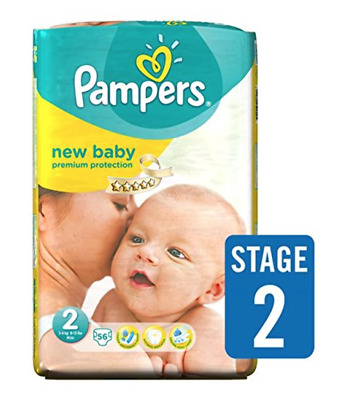 Pampers Premium Protection Nappies New Baby Monthly Saving Pack  Size 2 Pack 224