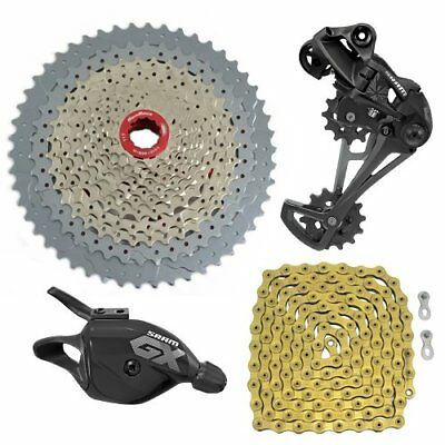 SRAM GX Eagle 12 Spd Groupset YBN Chain Gold & SunRace Cassette ,Trigger Shifter