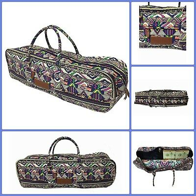 Patterned Canvas All In One Yoga Mat Tote Carry Bag With Pocket And Zipper Zuma