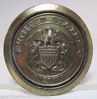 Vintage UNITED STATES NAVY Belt Buckle l/e GREAT AMERICAN BUCKLE Co CHICAGO 1977