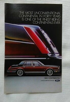 1982 Lincoln Continental Advertisement