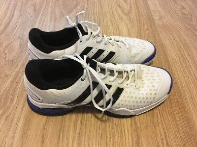 Adidas Barricade white tennis trainers Size 11.5