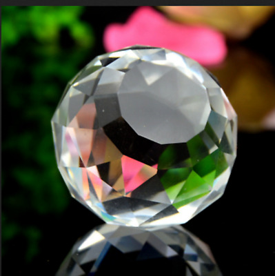 5pc Gazing Ball Crystal Sphere Clear Cut Home Decor Faceted 866