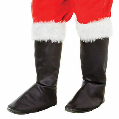 Santa Black Boot Tops Covers