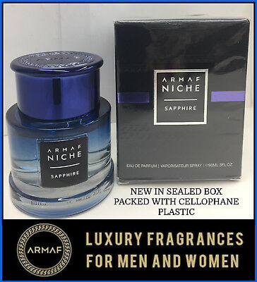 Sapphire By Armaf Niche Pour Homme Eau De Parfum 30oz New In The