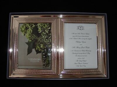 Vera Wang Wedgwood With Love Double Invitation Picture Frame Brand
