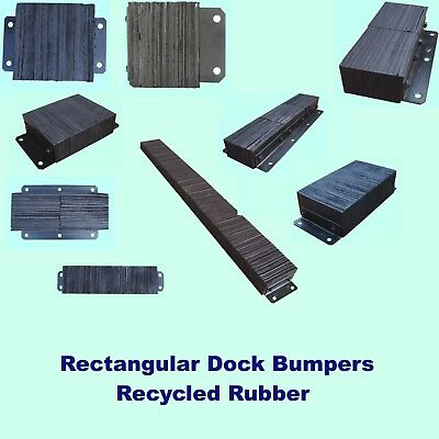Loading Dock Bumper Recycled Rubber Wall Protection Warehouse Trailer Truck Boat