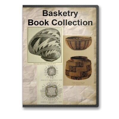 Basket Making Lessons Weaving Skills Indian Basketry Designs - 31 Books CD B407