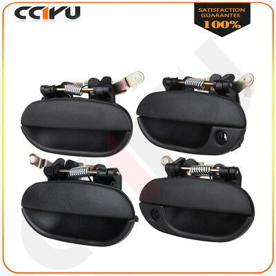 4Pcs Black Outside Right Left Front Rear Door Handles for 95-97 Hyundai Accent