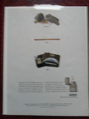 1999 Print Ad Zippo Lighters ~ 20,000 Years of Lighting Fires