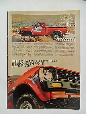 1980 Print Ad Toyota 4x4 4-Wheel Drive Truck Automobile ~ Oh What a Feeling