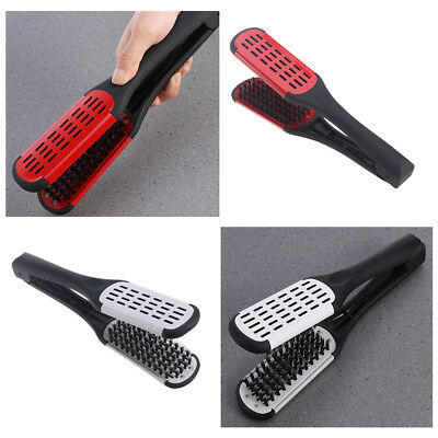 Hair Straightener Comb Iron Brush Auto Fast Hair Comb Clamp Massager Tool