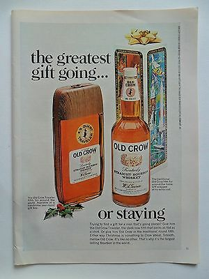 1968 Print Ad Old Crow Whiskey ~ The Greatest Gift Going