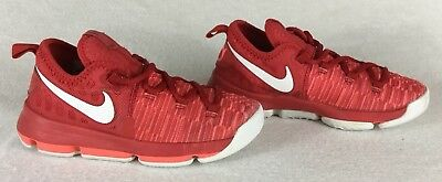 low priced 630ff 674b2 NIKE Kevin Durant KD9 Red Kids Basketball Shoes 855909-611 Youth Boys Size  1.5Y