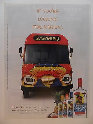2006 Print Ad Captain Morgan Parrot Bay Rum ~ Looking For Passion Get on the Bus
