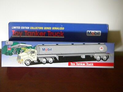Mobil toy tanker truck, 1993, new in box never used