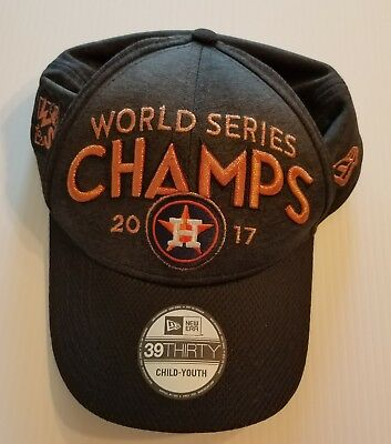 Houston Astros New Era 39THIRTY 2017 World Series Champions Locker Room Hat 0ee39a740fc8