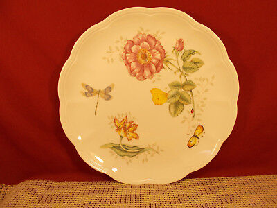 """Lenox China Butterfly Meadow Dinner Plate 10 7/8"""" Dragonfly NWT"""