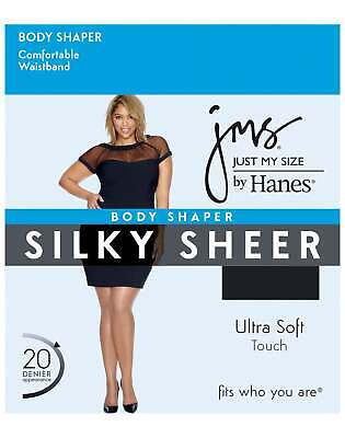 Just My Size Pantyhose Thigh Shaper Body 4-Pack Women JMS Silky Sheer Ultra Soft
