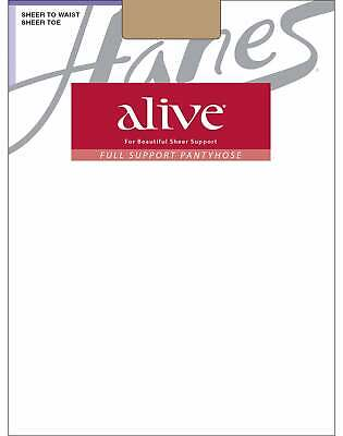 Hanes Pantyhose Alive Regular All Sheer 3Pack Full Support Silky Toe Comfortable