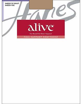 371c9dd23a9 Hanes Pantyhose Alive Regular All Sheer 3Pack Full Support Silky Toe  Comfortable