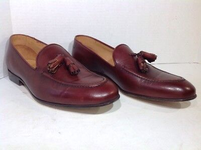 1add075b8b9 Vince Camuto Mens Size 8.5 Bellaire Brown Leather Dress Loafers Shoes ZS-300