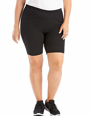 Just My Size Women Bike Shorts Stretch Cotton Jersey Sports Plus Size Black Grey