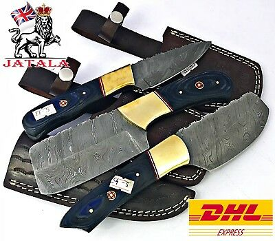 Damascus steel Chopper Cleaver And Chef Knives (A-5)