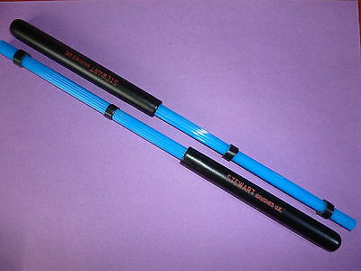 BLUE NYLON HOT RODS Excellent Value Stewart Brushes UK Drum Brushes Sticks