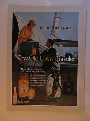 1968 Print Ad Old Crow Whiskey ~ New Old Crow Traveler