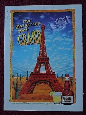 1996 Print Ad Grand Marnier Liqueur ~ Surreal Art EIFFEL TOWER in the Desert