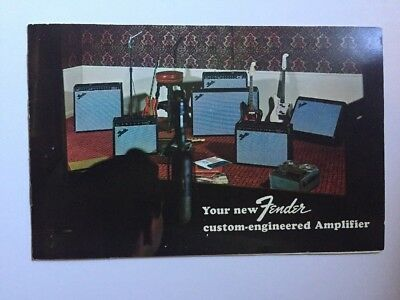 FENDER VIBRO CHAMP Amp Amplifier Schematic & Brochure Rare