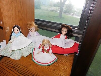 Madame Alexander Doll Lot Hungary Argentina Little Women Jo and Meg Vintage