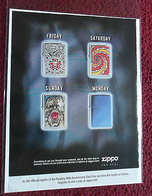 2004 Print Ad Zippo Lighters ~ Something to Get You Through the WEEKEND