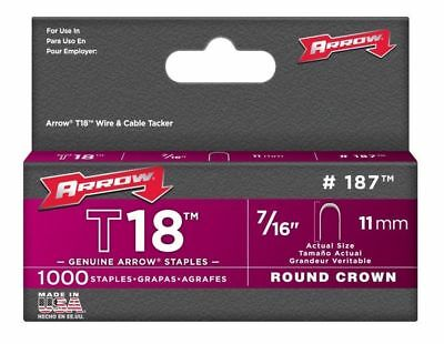 Arrow Fastener Company 187 7/16in. T18 Genuine Low Voltage Staples 1,000 Pc.