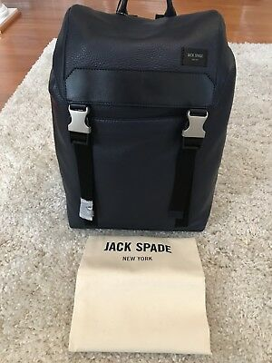 c8f276e18a ✨Jack Spade New York Army Backpack Mason Leather Dark Navy NWT (MSRP  398)